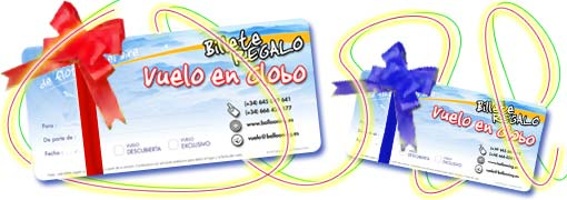 Billete regalo vuelo en globo